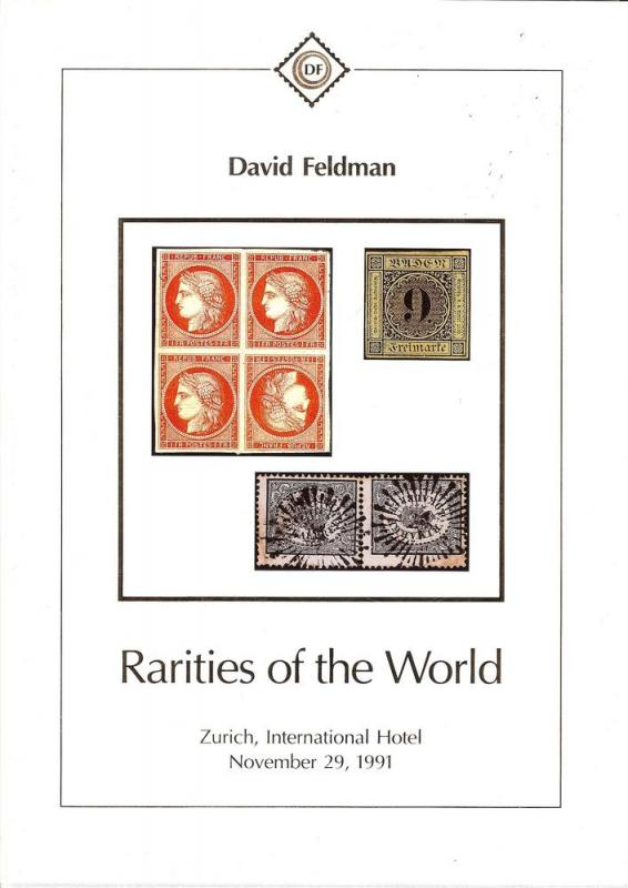 Rarities of the World 1991, David Feldman SA Nov 29, 1991