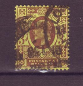 J17629 JLstamps 1902-11 great britain used #132 KEVII