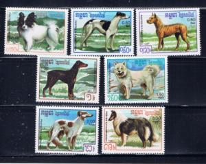 Cambodia 768-74 NH Dogs set;