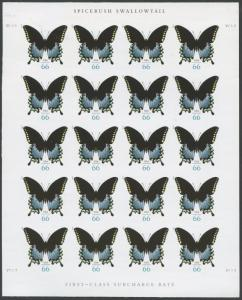 #4736a SPICEBUSH SWALLOWTAIL BUTTERFLY IMPERF PANE OF 20 BS5536