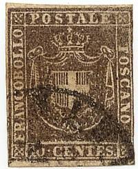 Italian States - Tuscany 1860 10c Used Scott #19