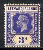 Leeward Islands 1921-32 KG5 3d deep blue Script unmounted...