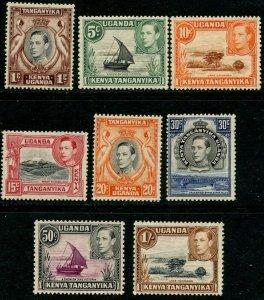 KUT Sc#66a, 67, 69, 72b, 74c, 76b, 79a, 80 1938 Perf Varieties Mint NH