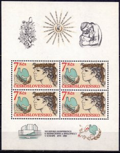 Czechoslovakia. 1985. bl65. Helsinki Conference dove of peace. MNH.