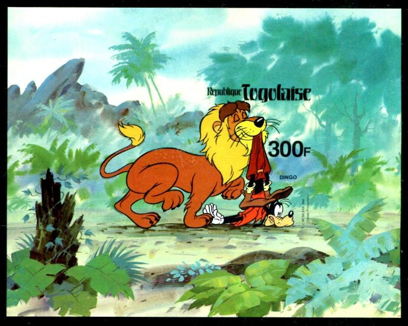 Togo 1072 Disney characters & Animals from Fazao Reserve Imperforeted x14664b
