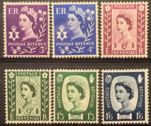 Northern Ireland 1-6 mnh set