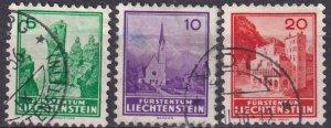 Liechtenstein  #117-8, 120  F-VF Used   CV $4.90 (Z3164)