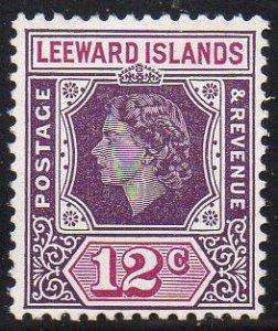 Leeward Islands 1954 12c dull and reddish purple MH