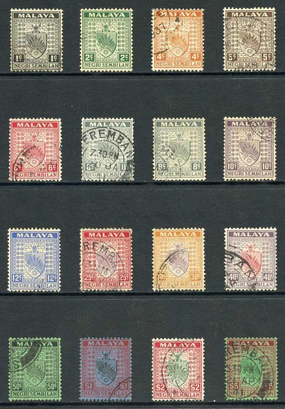 Negri Sembilan SG21/39 1935 set (no 3c and 15c) Fine used