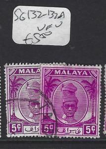 MALAYA PERAK  (PP0502B)   SULTAN 5C   SG  132-132A    VFU
