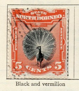 North Borneo 1897-1900 Early Issue Fine Used 5c. NW-113871