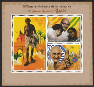 Congo (Brazzaville) 2019 GANDHI 150th.Anniversary of his Birth Sheetlet of 3 MNH