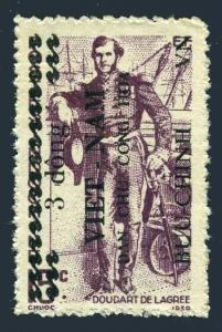 Viet Nam 1L38,hinged.Mi 41. Doudart de Lagree,Mekong Expedition.Surcharded,1945.