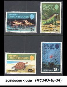 BRITISH VIRGIN ISLANDS - 1979 CONSERVATION / IGUANA / LOBSTER /CORAL REEF - 4V-