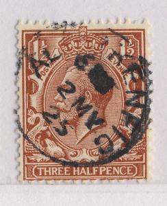 GB - 1925 - ABERKENFIG (Wales) SMALL CDS ON SG 420 1 1/2d RED-BROWN
