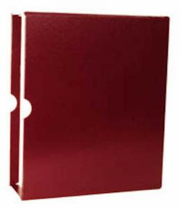 New Maroon Minkus Classic Stamp Album 3-Ring Binder & Slipcase