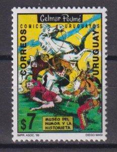 Uruguay 1999 Museum of Short Stories and Humour, Minas  (MNH)  - Horses, Literat
