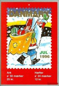 Denmark. Christmas Seal. 1996. 1 Post Office,Display,Advertising Sign.Santa,Gift