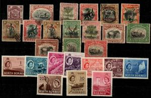 North Borneo - selection of mixed mint and used stamps [TC1021] CV $67.00