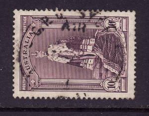 Australia-Sc.#178-used 10sh dl gray vio  Robes-KGVI-1938-
