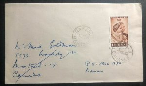 1948 Nassau Bahamas First Day Cover King George VI Royal Silver Wedding To Canad
