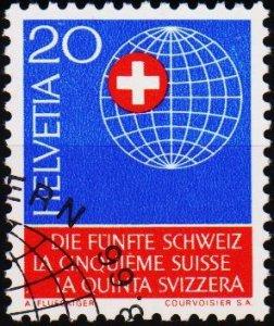 Switzerland. 1966 20c. S.G.739  Fine Used