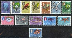 Tristan Da Cunha Sc# 55-67 MNH 1963 Overprints