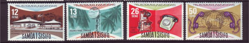 J19650 Jlstamps 1977 samoa set mnh #454-7 communication