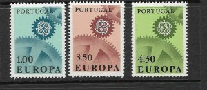 PORTUGAL - EUROPA 1967 - SCOTT 994 TO 996 - MNH