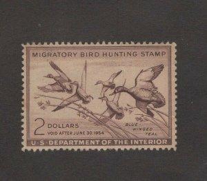 RW20 - Federal Duck Stamp. Single. MH. SG. Nice Center.   #02 RW20
