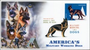 19-272, 2019, Military Working Dogs, Digital Color Postmark, FDC, Dutch Shepard