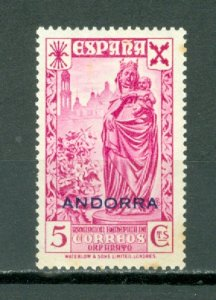 SPANISH ANDORRA 1943 CHARITY EDIFIL #7...MINT