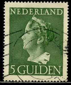 NETHERLANDS Sc#280 1946 5g Queen Wilhelmina Scarce High Value Used