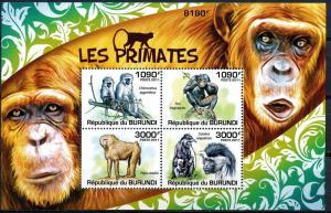 Burundi MNH S/S Primates 2011