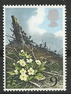 Great Britain # 855 Wild Flowers  - 9p.  (1) Mint NH
