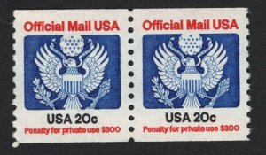 United States MINT Scott Number O135 COIL PAIR  MNH  VF  #5  -  BARNEYS