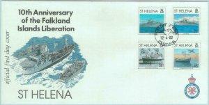 84730 - ST HELENA  - Postal History -   FDC COVER 1992  BOATS Parachutes WAR