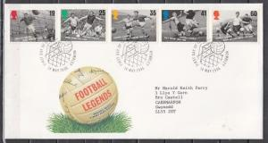 Great Britain, Scott cat. 1663-1667. Soccer Legends issue. First Day Cover. ^