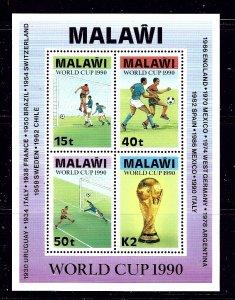 Malawi 569a MNH 1990 World Cup Soccer S/S  #2