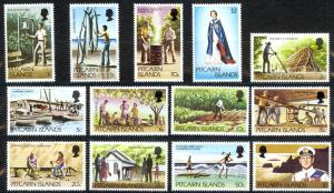 Pitcairn Islands Sc# 163-173 MNH 1977-1981 Definitives