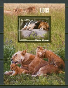 SIERRA LEONE 2019   LIONS SOUVENIR SHEET MINT NEVER HINGED