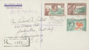 Pitcairn Island 1/2d KGVI Cluster of Oranges, 2d KGVI William Bligh and H.M. ...
