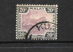 MALAY FEDERATED STATES  1900-01   20c  TIGER    FU   SG 21