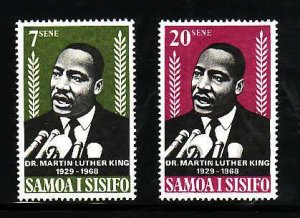 Samoa-Sc#298-9- id7-unused NH set-Martin Luther King-1968-