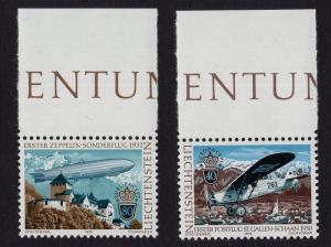 Liechtenstein  #663-664  MNH 1979 Europa airmail service Zeppelin mail plane