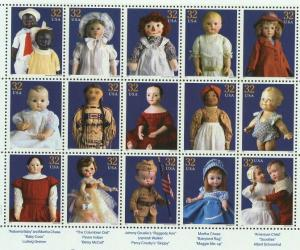 1997 sheet American Dolls Sc# 3151