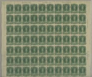 NOVA SCOTIA #11 SHEET/100 F-VF OG (90)NH (10)HR SOME NATURAL GUM SKIPS HV9471