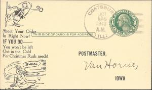 Uy7m (UPCC#M14), Card Adv Postmaster Supplies, Postal Cards