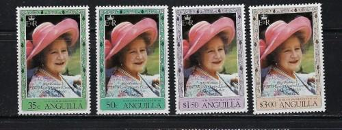 Anguilla 394-97 NH 1980 Queen Mother Birthday