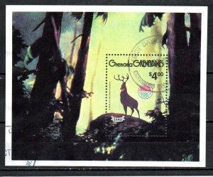 Grenada Grenadines 1980 DISNEY BAMBI CHRISTMAS s/s Perforated Mint (NH)